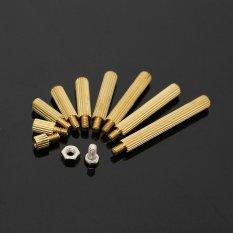 270Pcs M2 3-25mm Male to Female Brass PCB Standoff Screw Nut Assortment Kit Set - intl