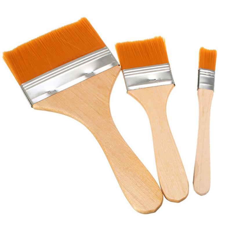 Mua 3 Pcs Wooden Handle Nylon Hair Large Area Brushing Art Paint Oil Painting Brush Basecoating Brushes Tool Set