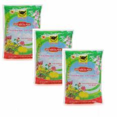 3 túi phân bón đầu trâu đa năng chuyên dùng cho hoa và cây cảnh 600g