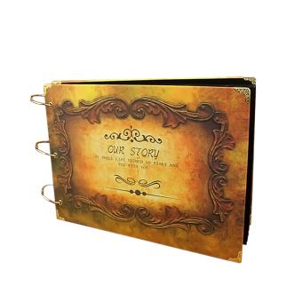 30 Black Sheets Inside DIY Rectangle Cardboard Vintage ScrapbookPhoto Albums Recording Memories Valentines Day Gifts - intl