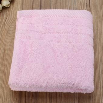 34x71cm Cotton Towel Face Cloth Hand Bath Towel Pink - intl