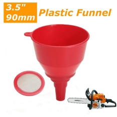 3.5 90mm Plastic Funnel For Chainsaw Lawnmower Brushcutter Use - intl