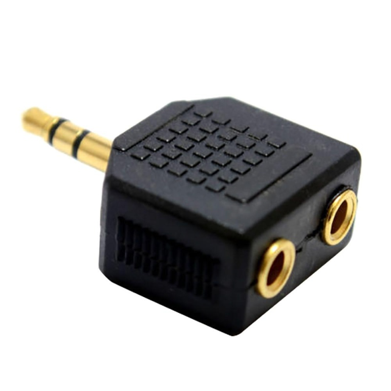 Bảng giá Mua 3.5mm Stereo Jack Headphone Splitter Adaptor 1 Plug to 2 Sockets - intl