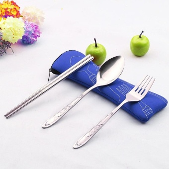 3PC Fork Spoon Travel Picnic Stainless Steel Cutlery Portable Camping Blue - intl - 8546041 , OE680HLAA8Y1Y1VNAMZ-17572407 , 224_OE680HLAA8Y1Y1VNAMZ-17572407 , 382000 , 3PC-Fork-Spoon-Travel-Picnic-Stainless-Steel-Cutlery-Portable-Camping-Blue-intl-224_OE680HLAA8Y1Y1VNAMZ-17572407 , lazada.vn , 3PC Fork Spoon Travel Picnic Stainless