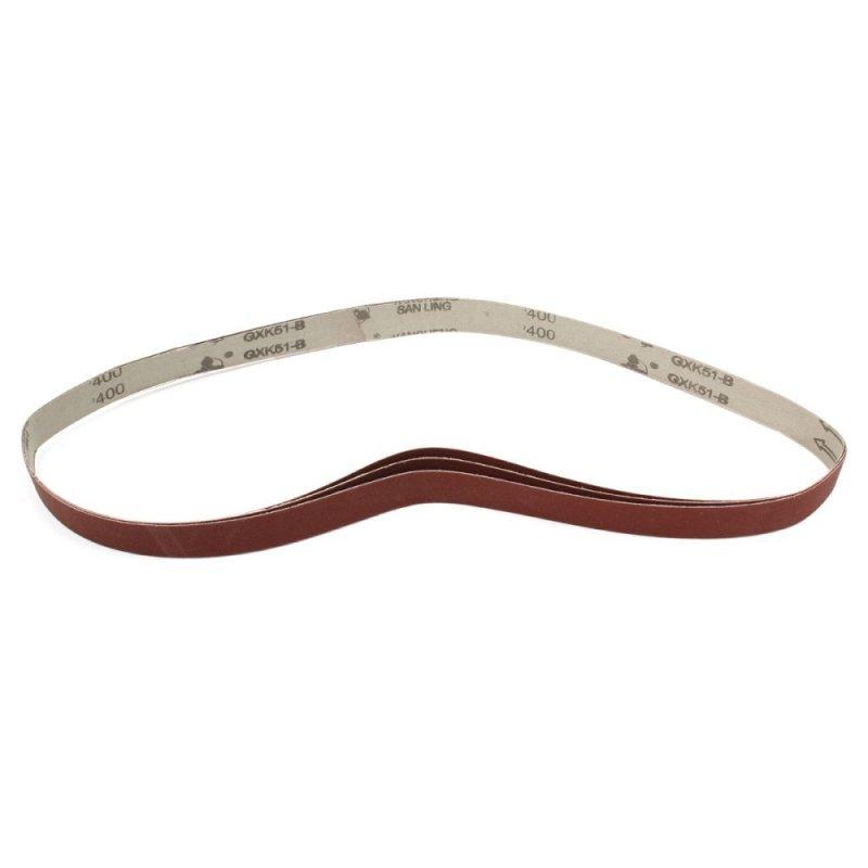 400 Grit 1 x 42 3 Packs of Air Sander Sanding Belts Metal Working Sharpening - intl