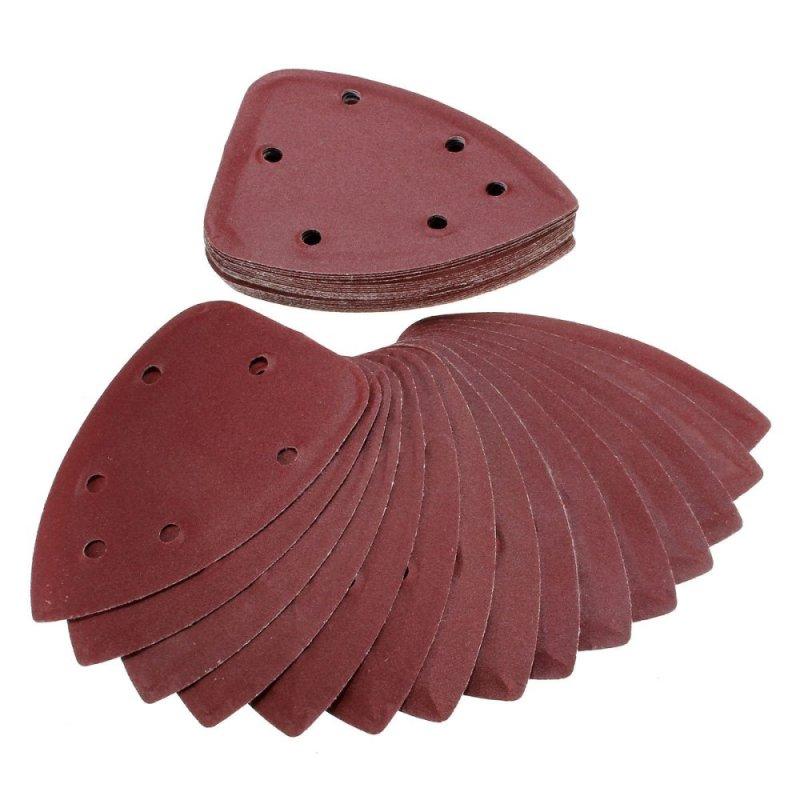 40X 4 240 Grit Mouse Sanding Sheet Discs Triangle Grinder Paper Pad - intl