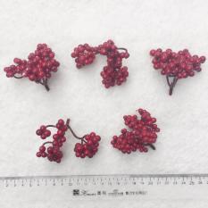 5 chùm quả Cherry trang trí giáng sinh noel (cỡ nhỏ)