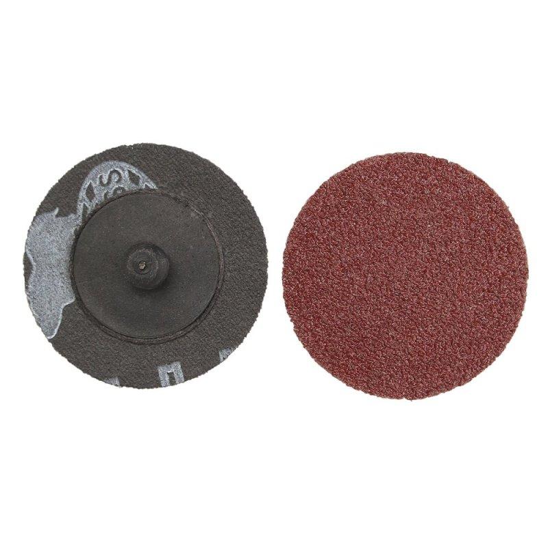 50pcs 60 Grit 2 Roll Lock Type R Sanding Disc With Mandrel for Dremel - intl