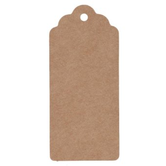 50pcs Kraft Paper Gift Tags Scallop Label (Brown) - intl
