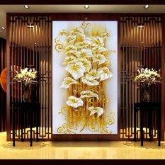 5D Đầm Hoa Tranh Gắn Đá 3D Tranh Thêu Chữ Thập DIY Trang Trí Nhà-quốc tế