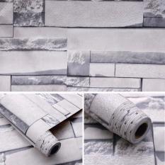 5M Giấy Dán Tường – Decal dán tường – Gạch Trắng-HPMWallpaper
