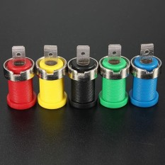 5pcs Connector Color Set Binding Post Banana Jack for 4mm Safety protection Plug - intl