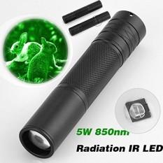 5 wát 850nm LED Hồng Ngoại IR Đèn Pin Đèn Pin Phóng To cho Tầm Nhìn Ban Đêm Phạm Vi-quốc tế