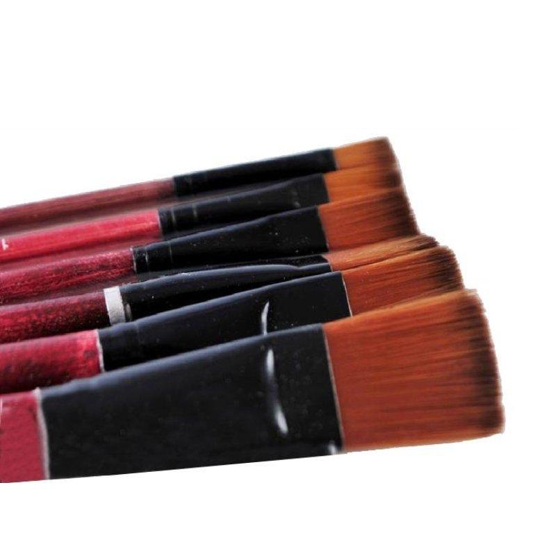 Mua 6 Brown Nylon Paint Brushes Art Artist Supplies - intl