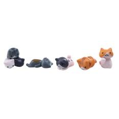 6 Pcs Cute Cartoon Lazy Cats Micro Landscape Decor - intl