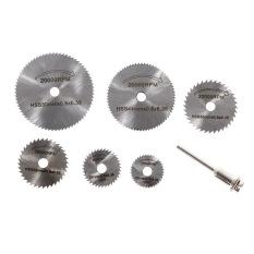 7PC Dremel Cutoff Circular Saw HSS Rotary Blade Tool Cutting Discs Mandrel