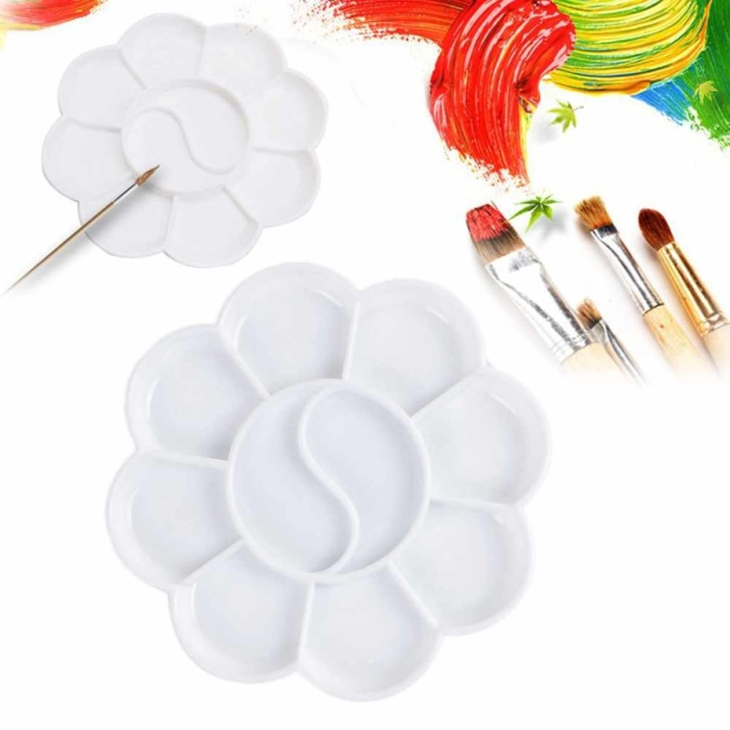 Mua 8 cells Plum blossom Paint Tray Artist Oil Watercolor White Plastic palette - intl