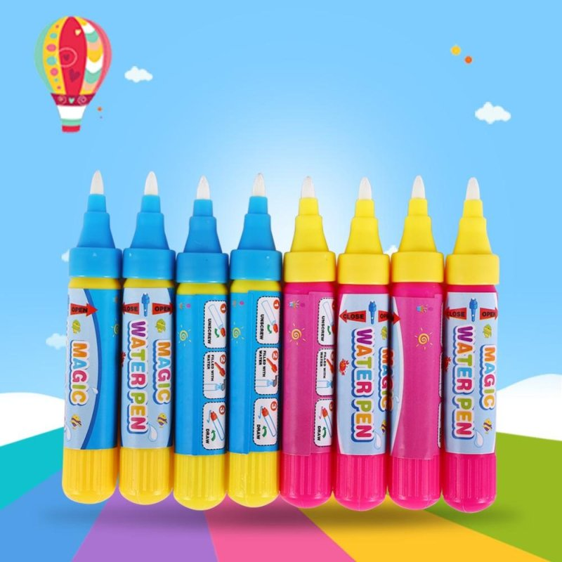 Mua 8Pcs/Set Water Drawing Toy Kid Painting Writing Mat Aquadoodle Magic Pen Doodle Play Tool - intl