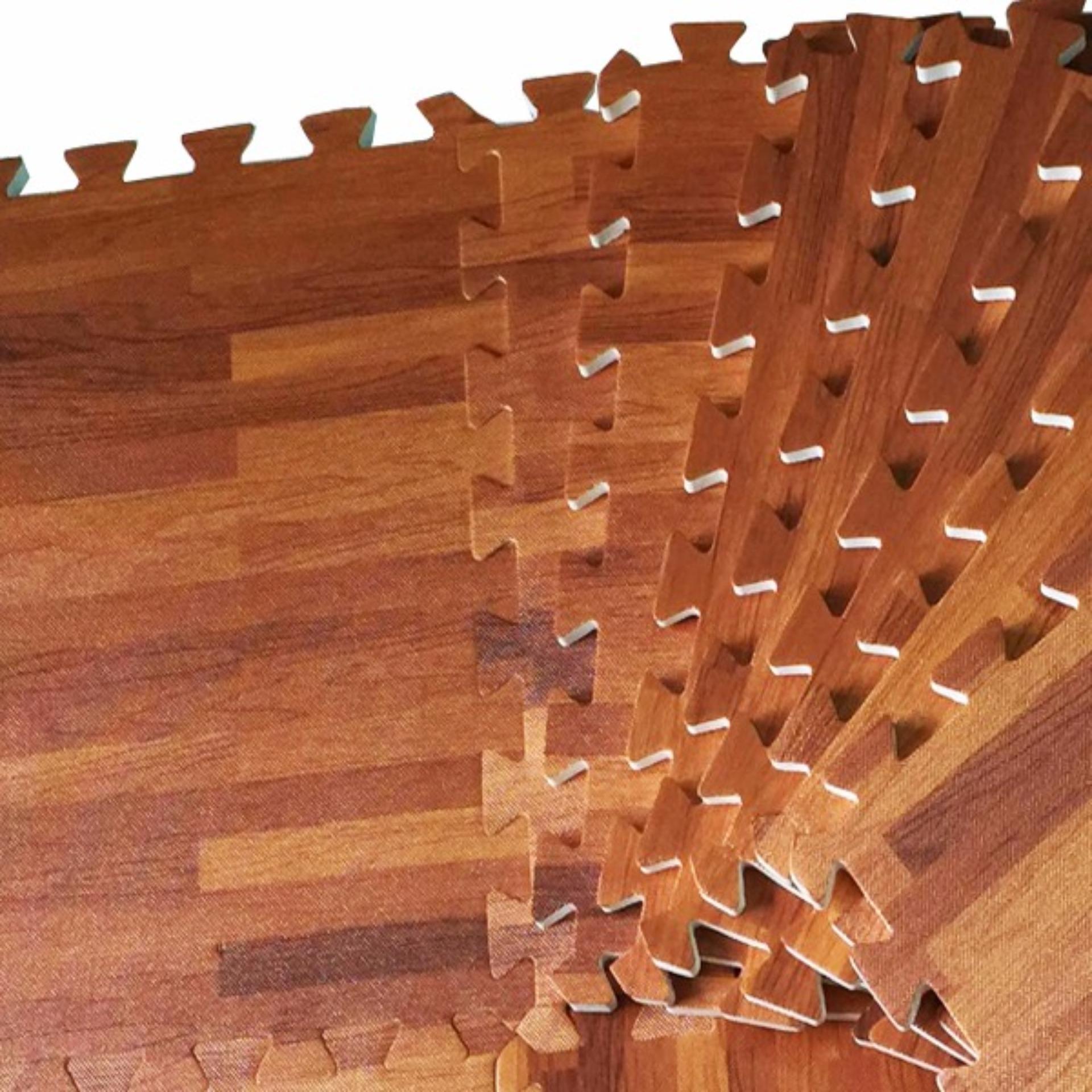 Nơi Bán 9 miếng thảm xốp vân gỗ âu lạc 40×40