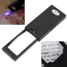 9581 2.5X 45X Acrylic Optical Lenses Pull Type Mini Portable Magnifier with 2 LED Lights and UV Light - intl