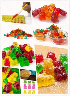 Ai Home 50 Chocolate Ice Cavity Tray Bear Silicone Maker Candy Mold(Orange) - intl