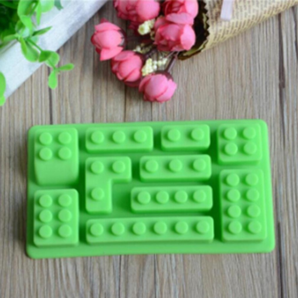 Ai Home Silicone Molds Building Blocks and Robots Chocolate CakeMould - intl