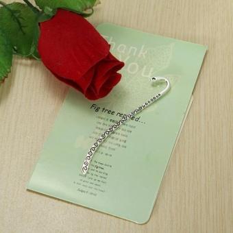Alloy Carved Antique Silver Bookmark Line Hook Bookmark Hook Finding Gift - intl