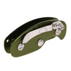 Aluminum Key Organizer Clip Folder Keyring Case EDC Pocket Tool Green (Intl)