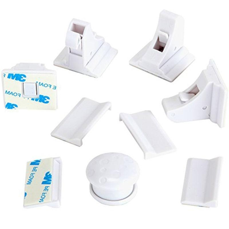 Bảng giá Mua Baby Safety Magnetic Locks System 4 Locks and 1 Key Set for Cabinets and Drawers - intl