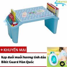 Bàn học mini có hộp đựng cho bé Child Desk CD-BL tặng kẹp tinh dầu đuổi muỗi