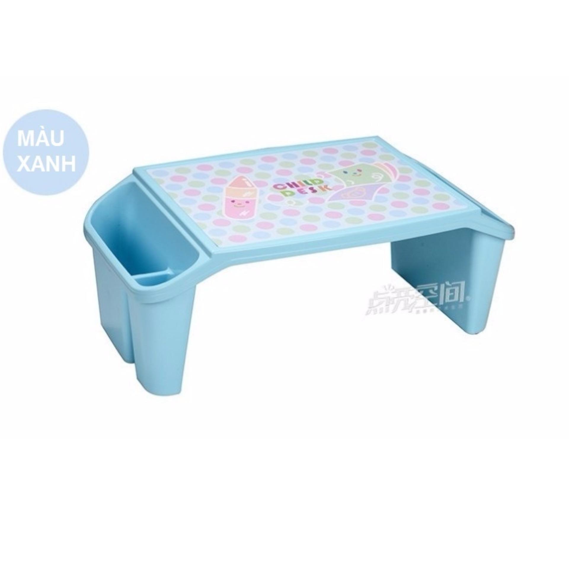 Bàn nhựa cho trẻ em màu xanh (Hàng Nhật Nội Địa)