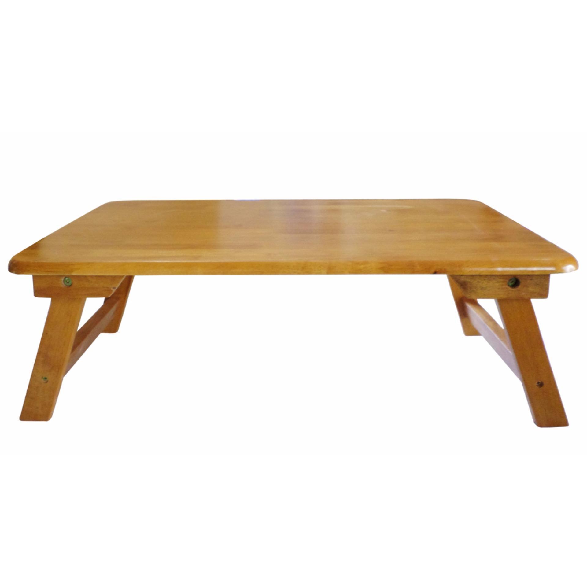 Bàn trà chân thang 60×40 gỗ cao su (Vàng cánh gián)