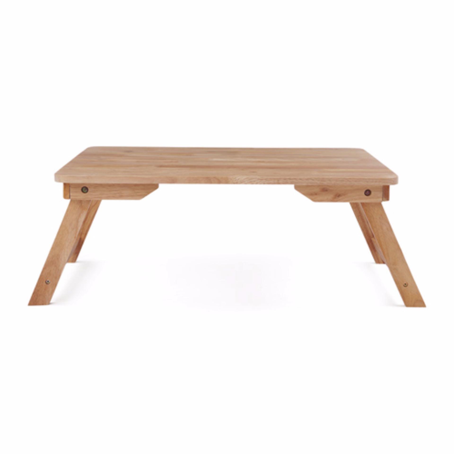 Nơi mua Bàn trà chân thang gỗ cao su 70×50 (Tự nhiên)