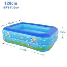 Bể bơi phao 2 tầng cho bé size 115x85x35cm - Mẫu mới 2017 (Xanh dương)