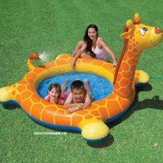 Bể bơi phao hươu cao cổ cho bé