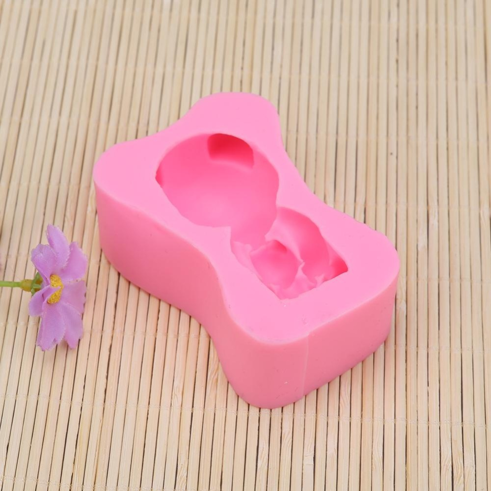 Bear Shape DIY Chocolate Silicone Mould Cake Decor - intl
