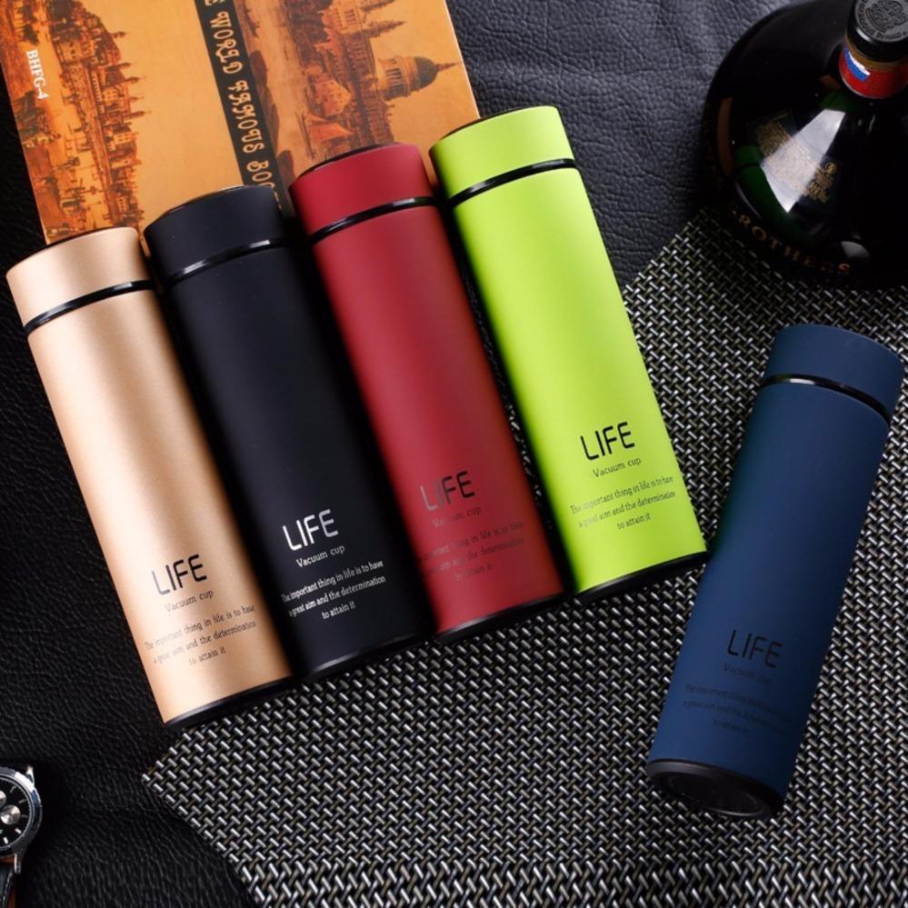 Bình giữ nhiệt cao cấp 3 lớp Life Flask 450ml (Màu ngẫu nhiên)