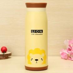 Bình Giữ Nhiệt Hoạt Hình Phong Cách Hàn Quốc 500 ml (Vàng Sư Tử)