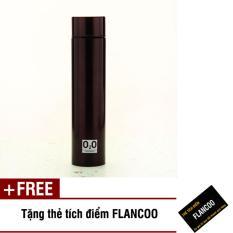 Bình giữ nhiệt inox cao cấp 400ml Flancoo 9356 (Nâu đậm) + Tặng kèm thẻ tích điểm Flancoo