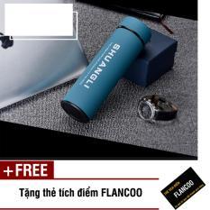 Bình giữ nhiệt inox Flancoo 3502 (Xanh dương) + Tặng kèm thẻ tích điểm Flancoo
