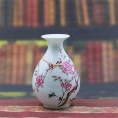 Bình gốm sứ Cảnh Đức – Giang tây trang trí họa tiết hoa đào MS ym-qh-04(10)