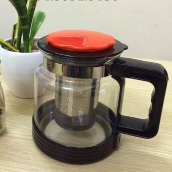 Bình lọc trà, cafe thuỷ tinh 750ml (Nắp đỏ)
