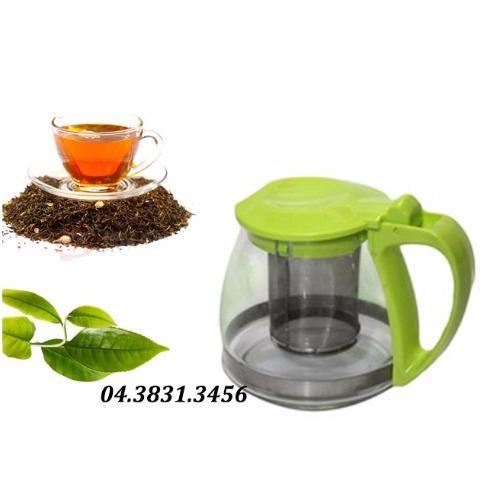 Bình lọc trà, cafe thuỷ tinh Clever Mart thông minh 700ml (Nắp xanh)