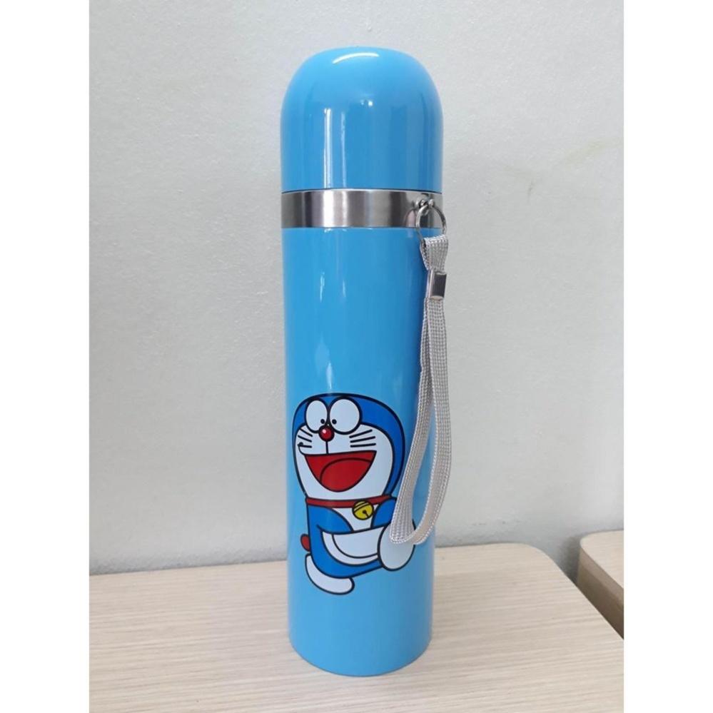 Bình nước giữ nhiệt 2 lớp (Xanh DOREMO) - Kmart