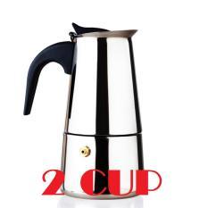 Bình pha cà phê Inox cao cấp phong cách Italy – BCP Bạc 2 CUP