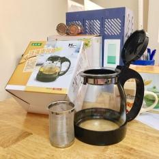 Bình pha trà có lưới lọc inox 1.3L Home Wares giá rẻ (Đen)