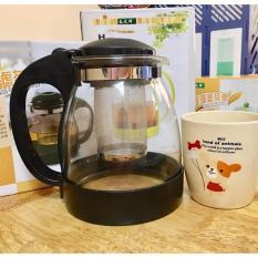 [TẶNG KHĂN LAU SIÊU THẤM] – Bình pha trà và cà phê 1.3L/Bình pha trà có lõi lọc cao cấp Home Wares No8170
