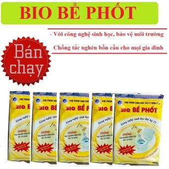Bio- Bột thông tắc bể phốt, đường ống cống(combo bộ 5 gói)