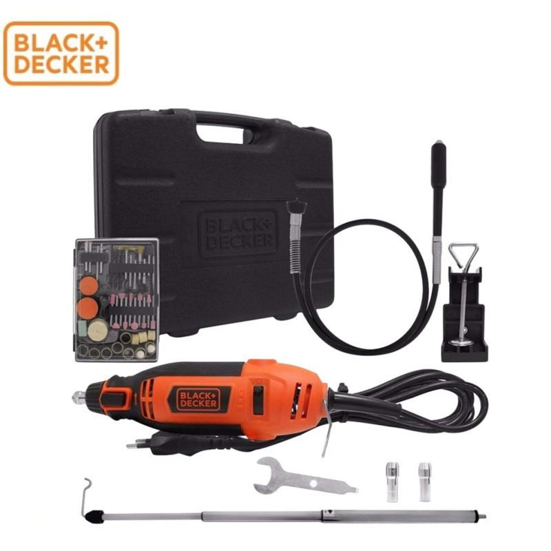 Black+Decker - Máy chạm khắc đa năng 180W có hộp và 114 phụ kiện RT18KA-B1