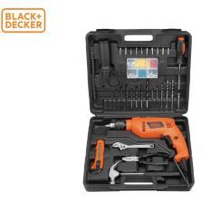 Black+Decker - Máy khoan động lực 550W - 13mm có hộp,100 phụ kiện kèm theo HD555KMPR-B1